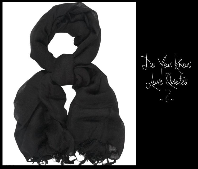 Black - Love Quotes linen scarf