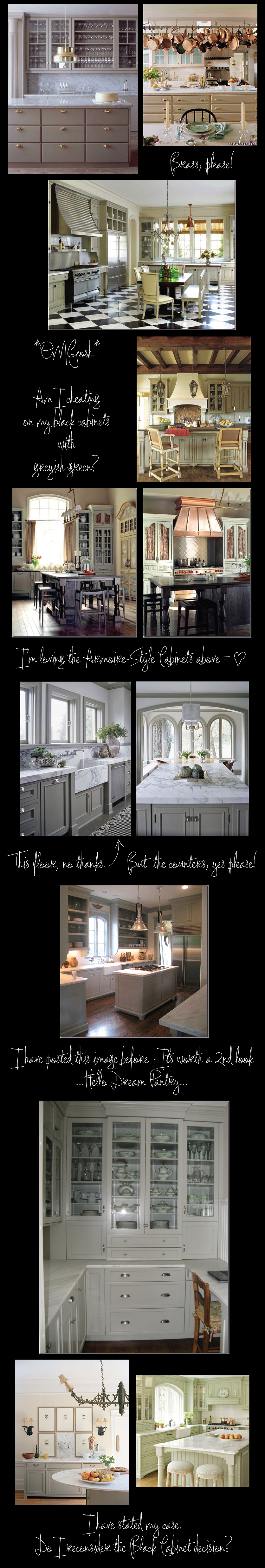 Grey-Green Kitchen Love: Inspiration