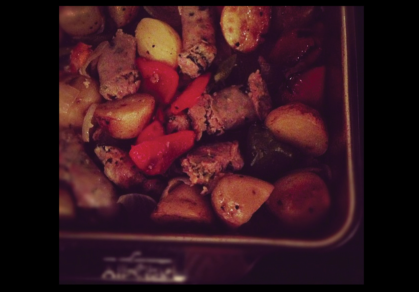 One-Pan-Roasted-Sausage-and-Vegetables