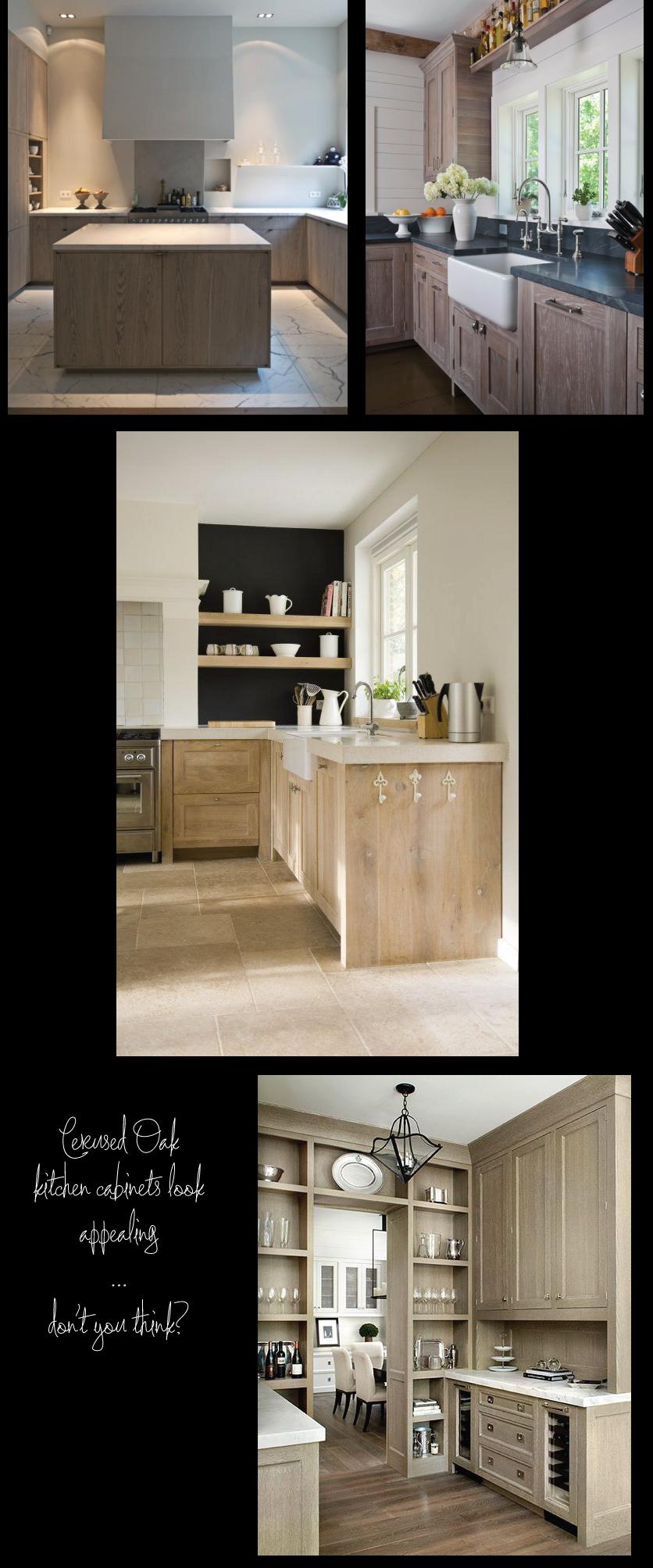 Magnet Limed Oak Kitchen Cabinets